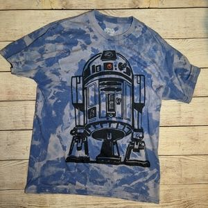 Star Wars R2D2 - Custom Bleach Dye Tee